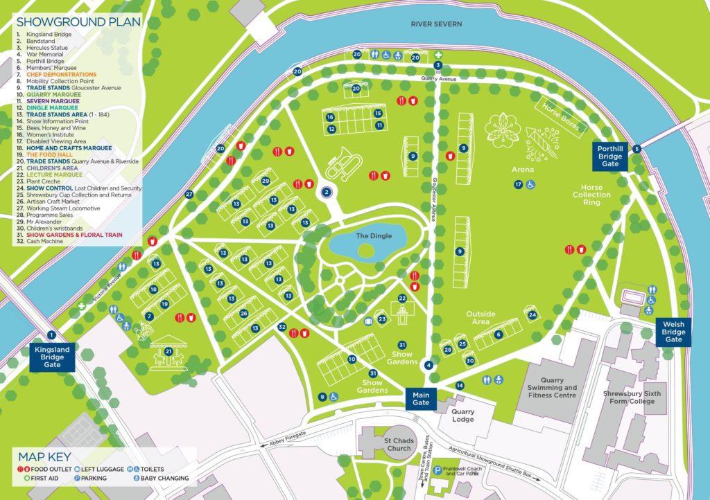 Map | Shrewsbury Flower Show